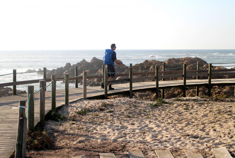 Camino Portugues da Costa has a lot of boardwalks along the Atlantic Ocean