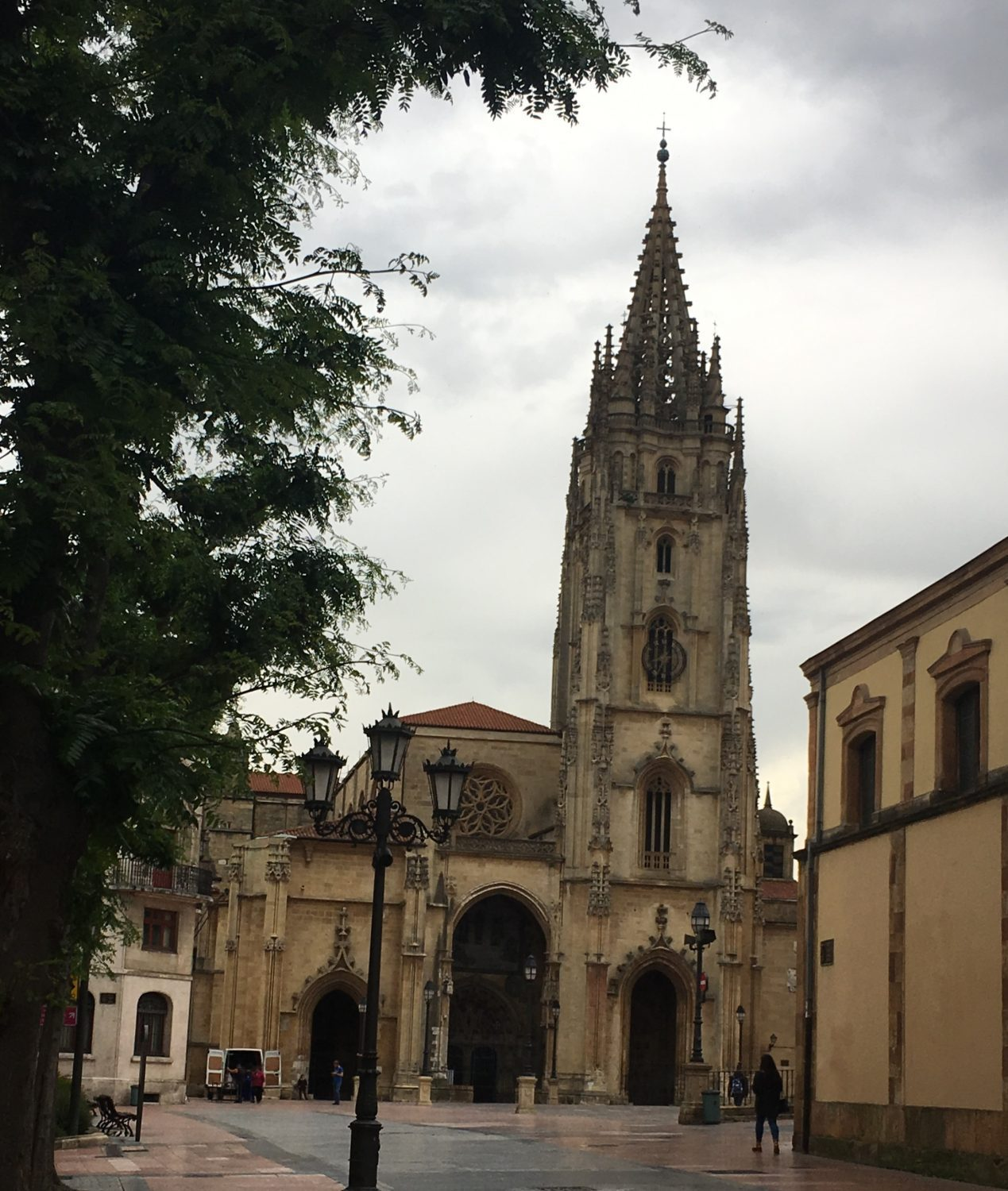 The cathedral in Oveido is the starting point of Camino Primitivo