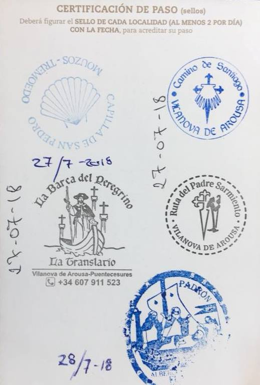 Avoid getting the boat stamp in your credential if you take the boat on Variante Espiritual. You might not get your compostela.