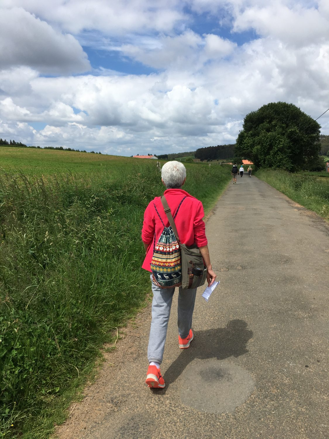 Walking single file on the camino - is the camino packed with tourists?