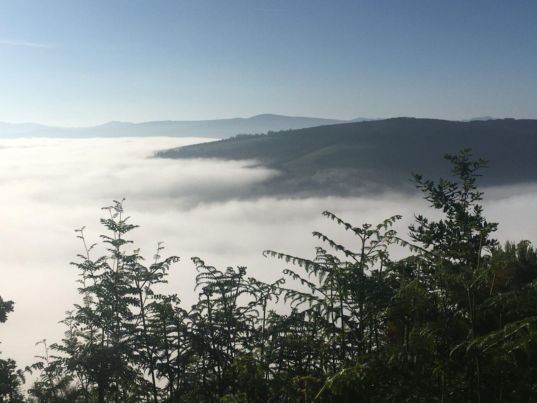 Beautiful mountains views along Camino Primitivo