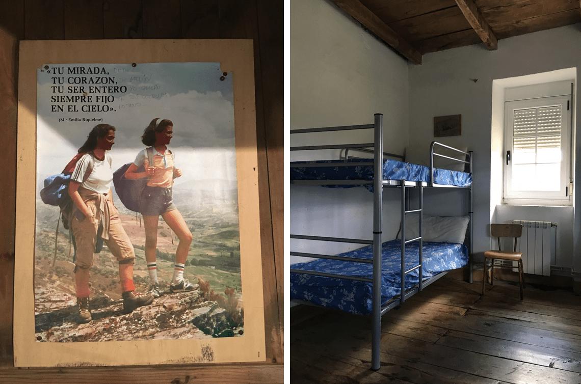 Retro albergue on Camino Primitivo in Padron