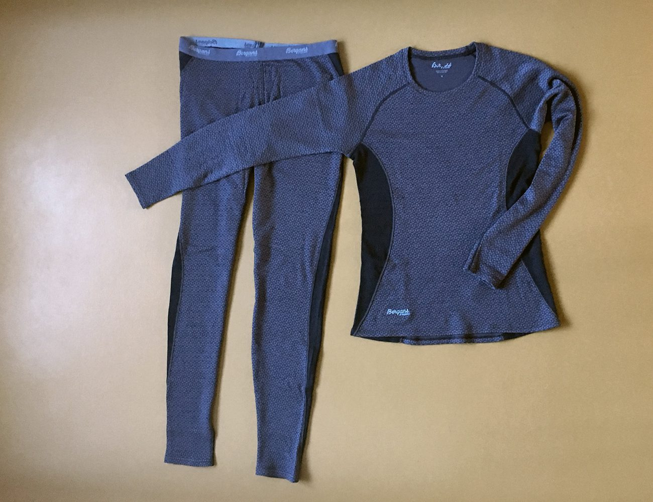Baselayer in merino wool for the camino.