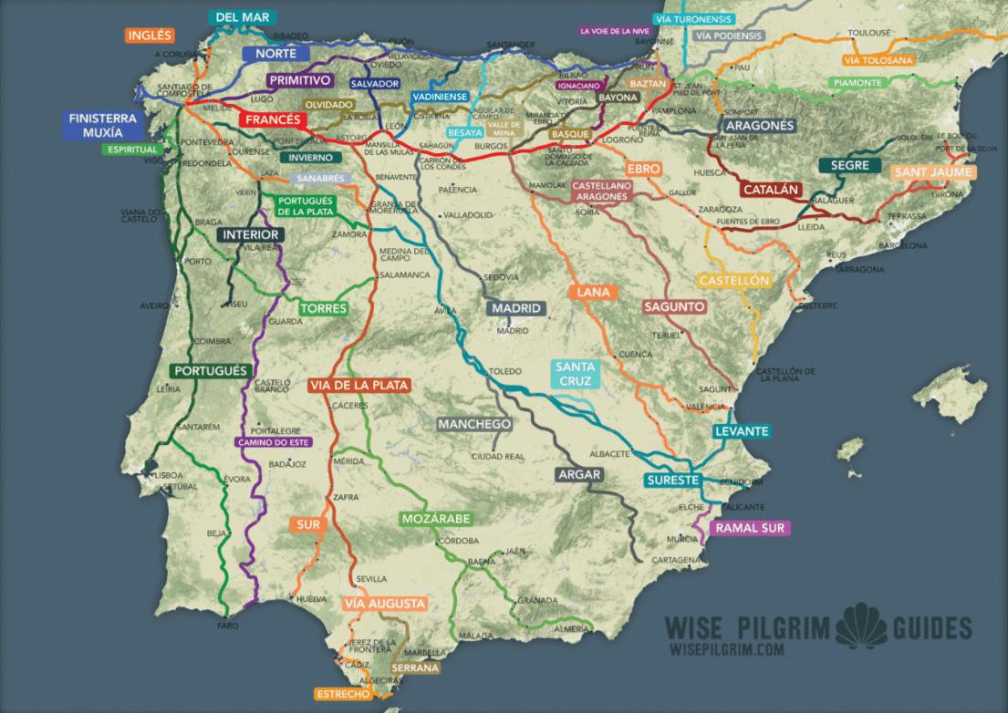 Less trafficked routes on El Camino de Santiago